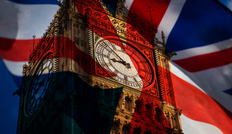 Big Ben London symbolisiert die Insolvenz in England